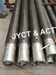 High Frequency Welded Spiral Finned Tubes , Serrated Fin Tube For Heat Exchanger