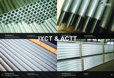 Aluminium Wrapped Extruded Fin Tube Untuk Cooler / Heater, L Type Finned Tube